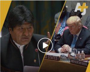 Le président bolivien Evo Morales s'est payé Donald Trump